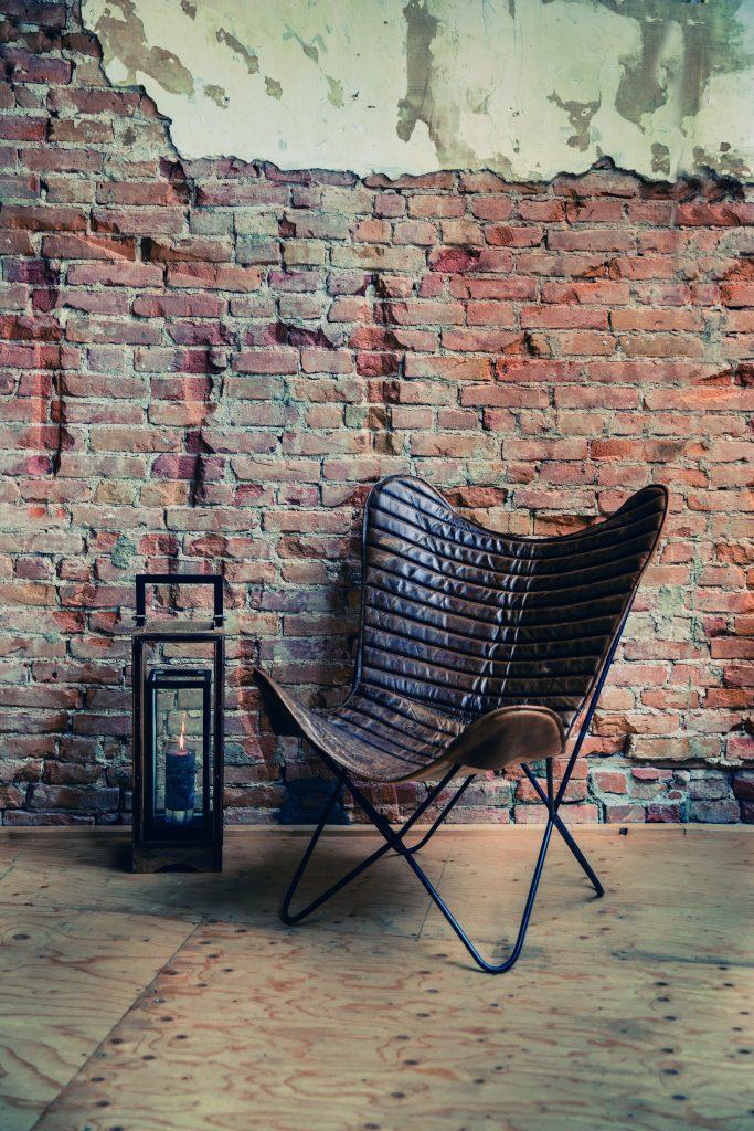 Vlinderstoel leer PTMD