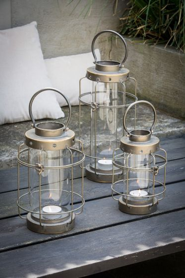 LIGHT&LIVING LANTAARN SPINEA TIN LOOK 44 X Ø20,5