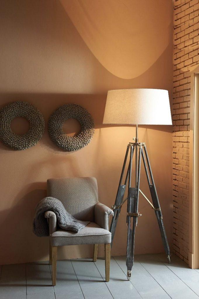 Vloerlamp Matisse Grijs met witte kap Light&Living