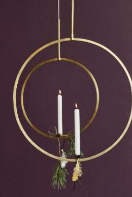 Hangende kandelaar goud by Nordal | Wants&Needs
