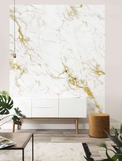 Behangpaneel XL Marble Goud 220 x 190 - By KEK Amsterdam - www.wantsandneeds.nl - BP-041