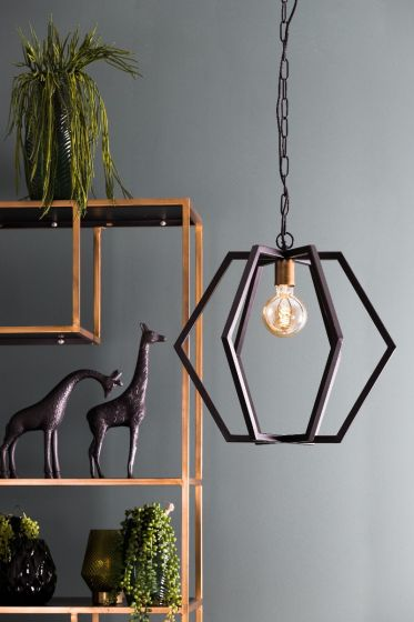 Hanglamp Bresca Mat Zwart M 30 x ⌀30 - By Light&Living - www.wantsandneeds.nl - 2937312