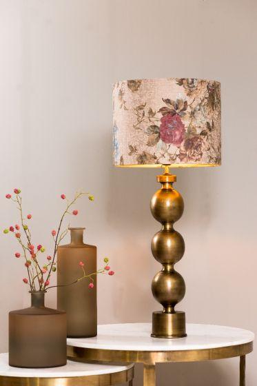 Lampenkap ROSA barok zand 21 x 30 x 30 - By Light&Living - www.wantsandneeds.nl - 2230965