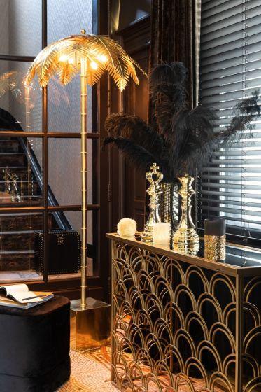 Vloerlamp Palm Metaal Goud 120 x 77 x 77 - By J-Line - www.wantsandneeds.nl - 96493