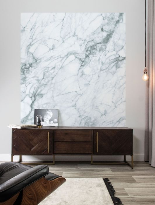 Behangplaneel XL marble wit KEK Amsterdam