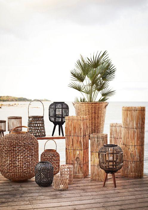 Windlicht bamboe bruin by Madam Stoltz