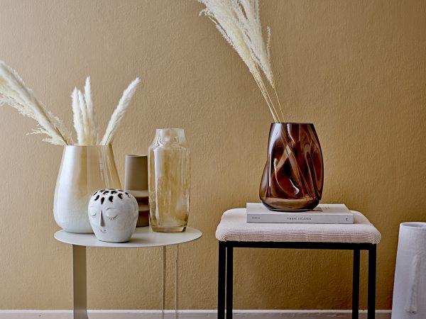 Vaas wit steen van Bloomingville