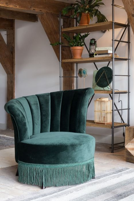 Fauteuil flair dark green Dutchbone