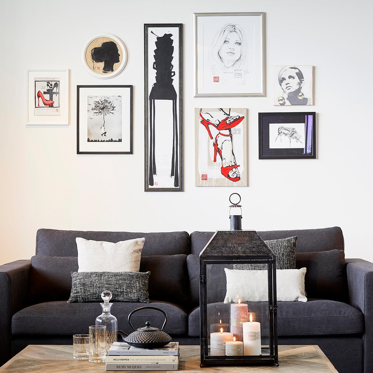 Keep your heels high schilderij | Eigen gemaakte gallery wall