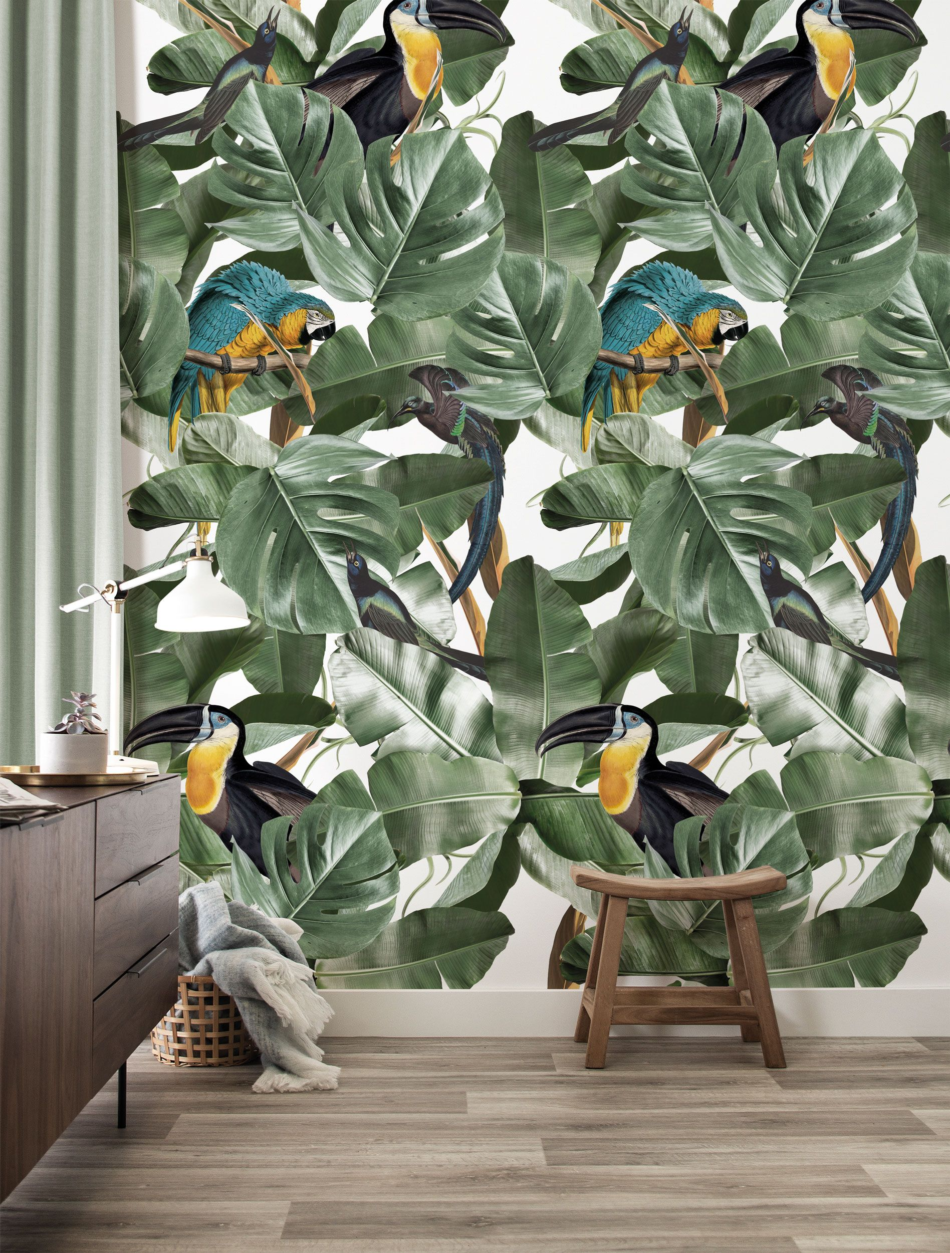 Botanical Birds behang | Jungle