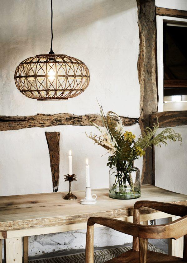 Hanglamp Bamboe Naturel Rond | Spanje