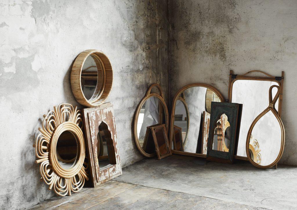 Spiegel Bamboo Rond Madam Stoltz